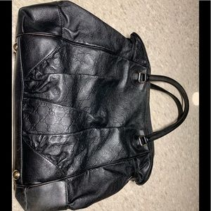 Authentic used Gucci leather handbag